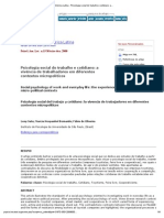 Psicologia para América Latina - Psicologia social do trabalho e cotidiano_ a vivência de trabalhadores em diferentes contextos micropolíticos