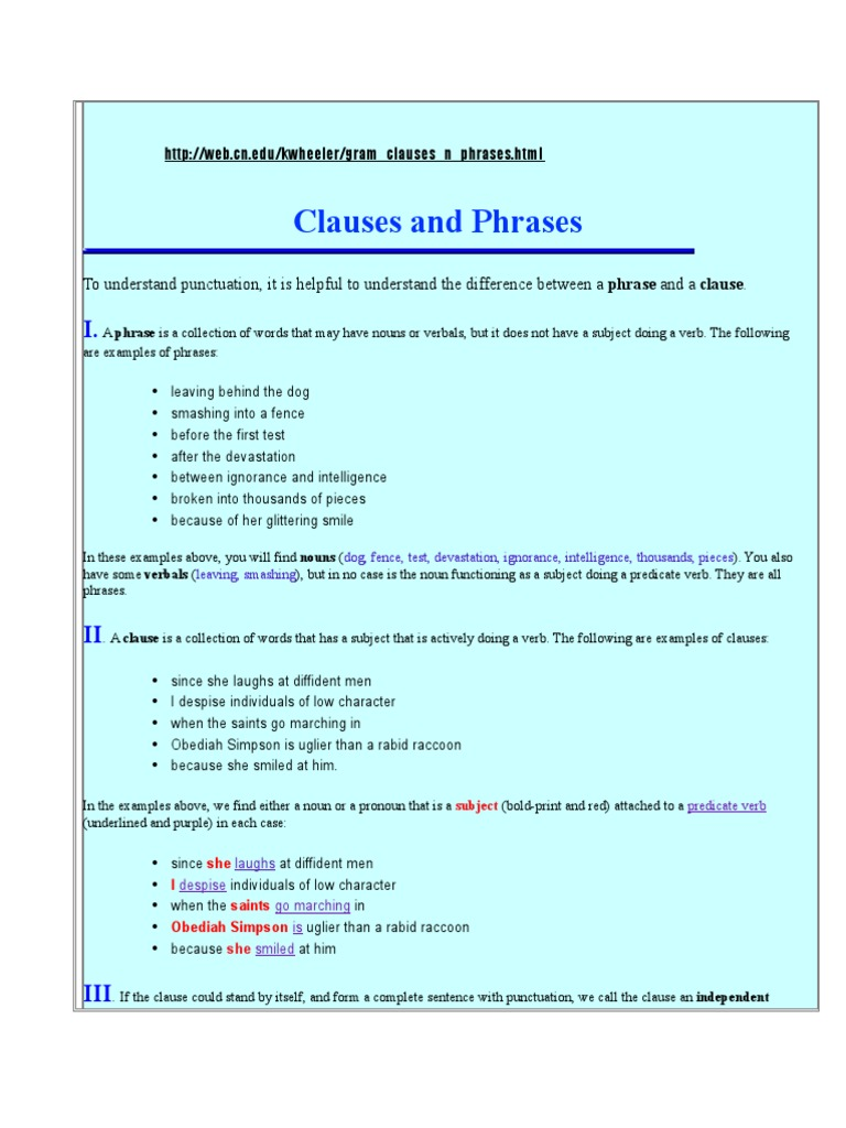Workbooks » Noun Clause Worksheets - Free Printable Worksheets for ...