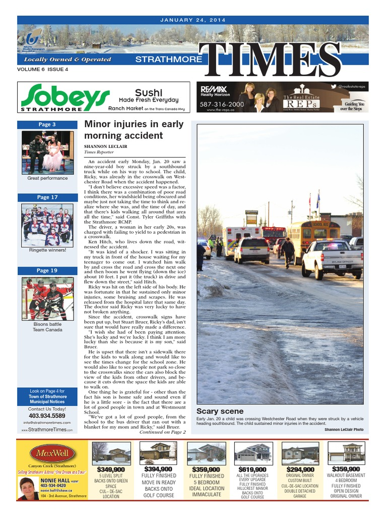 January 24, 2014 Strathmore Times | Cataract | Natural Gas