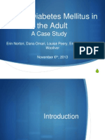 "Powerpoint Presentation- ""Type I Diabetes Mellitus in the Adult"""