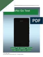 Sony Xperia M Go/No Go test