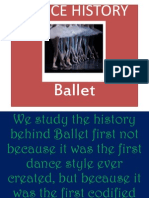 ballet dance history powerpoint