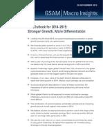 Goldman Sachs, Nov 29, 2013. The Outlook for 2014-2015