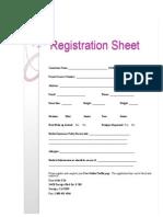 Registration Packet Forms