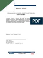 Declaração Aceitaçao Termos Contrato