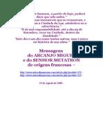 Mensagens Do ARCANJO MIGUEL e Do SENHOR METATRON de Origens Francesas - 15-08-2009