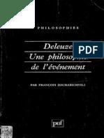 Zourabichvili Deleuze Une Philosophie de l'evenement