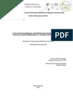 A aplicação de medidas antidumping estadunidenses sobre o suco de laranja brasileiro e o Acordo Antidumping da OMC