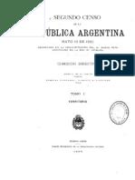 Censo de Argentina de 1895. Tomo 1.