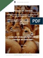 GUÍA DE EVALUACIÓN DE LA FAUNA SILVESTRE