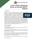 Cómo citar y hacer referencias bibliográficas con Normas APA 6ª Edición