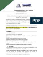 Chamada de projetos para o Programa de Bolsas de Iniciação Científica (PROBIC/PIBIC)