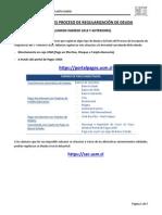 Instrucciones Proceso de Regularización de Deuda 2014-1