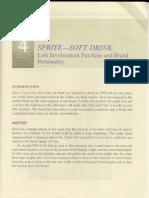 Case Study 4 Sprite - Soft Drink CB by Prof. R Ravi