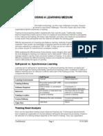 Choosing a Learning Medium