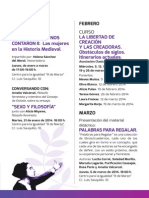 "Programa Escuela Pensamiento Feminista ""Clara Campoamor"" Primer Trimestre 2014"