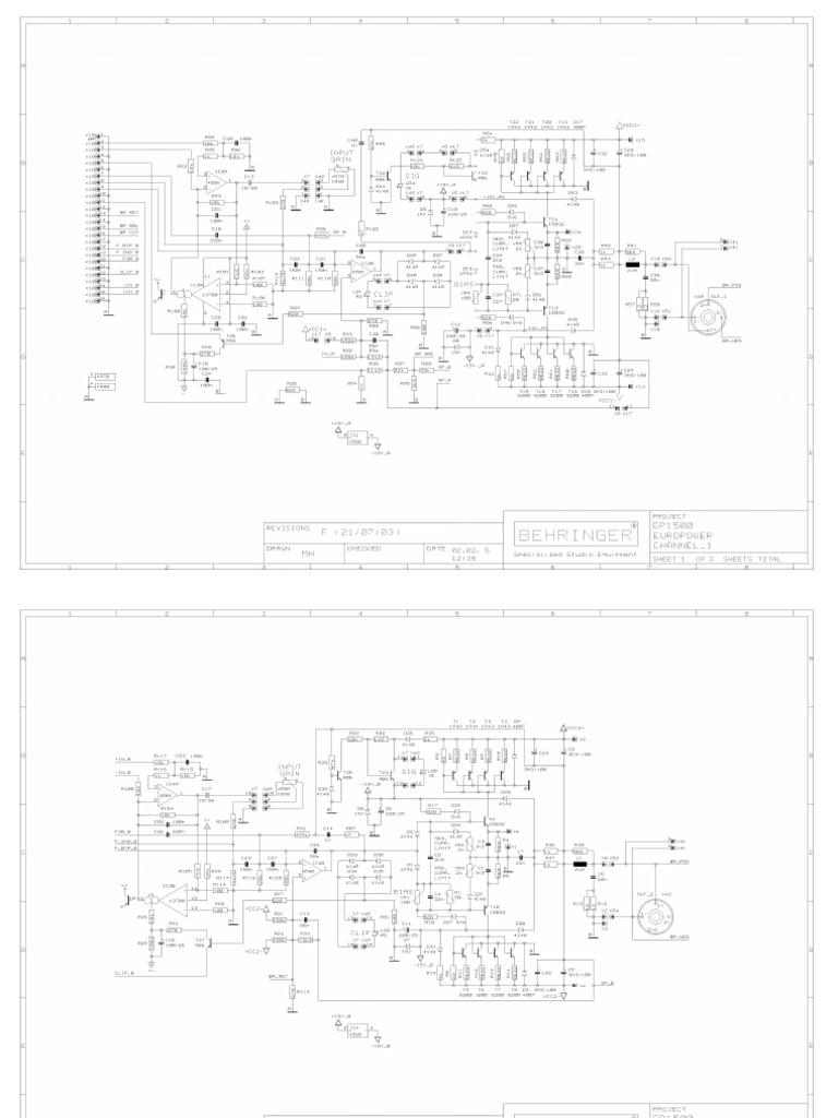 Behringer Ep1500 Power Amplifier Schematic