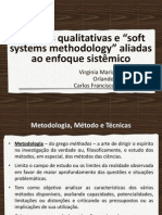 "Técnicas qualitativas e ""soft systems methodology"" aliadas ao enfoque sistêmico"