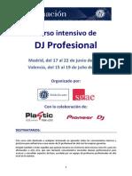 Curso de Dj Profesional 2 Valencia 2013