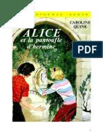 Caroline Quine Alice Roy 22 BV Alice Et La Pantoufle d'Hermine 1945