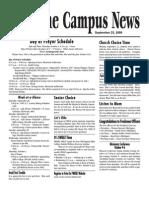 Campus News 9-25-09