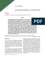 Advanced maternal age and outcomes of pregnancy SUDÁFRICA2005 5p