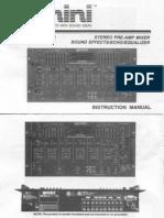GEMINI PMX-3501 Instruction & Schematics