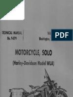 (1941) Technical Manual TM 9-879 Harley Davidson WLA