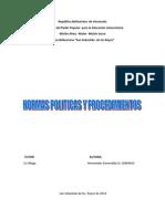 Normas Politicas y Procedimientos