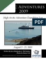2009 Adventure Canada High Arctic Log
