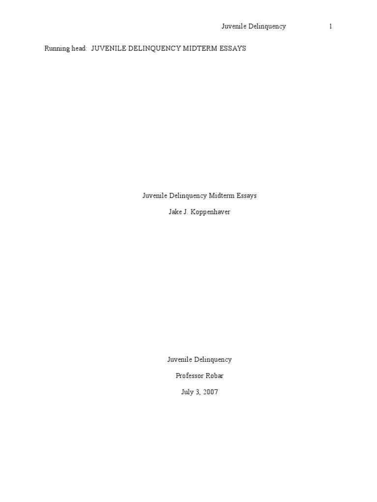 juvenile delinquency midterm essays juvenile delinquency juvenile delinquency midterm essays juvenile delinquency deviance sociology