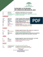 Calendario de Actividades FAK 2014 (Actualizado 10-01-2014)