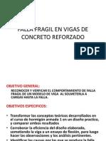 Falla Fragil en Vigas de Concreto Reforzado