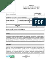 Plano Ensino Adm Leitura 2013-2