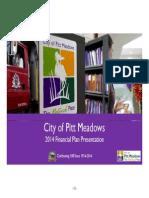 Pitt Meadows Corporate Plan Financial Overview - 2014
