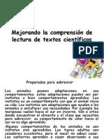 Mejorando la comprensión de lectura de textos científicos