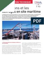 Les bétons et les ouvrages en site maritime