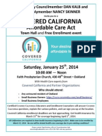 Covered CA Town Hall Flyer