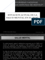 Situacion Salud Mental Peru Diapositivas