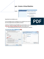 VM Player - Create Virtual Machine Steps