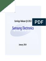 Samsung financials Q4 2013