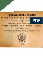 VOCABULARIO POLIGLOTA INCAICO
