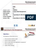 Organising for Risk Management