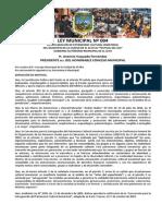 LEY MUNICIPAL Nº 004 PATRIMONIO CULTURAL