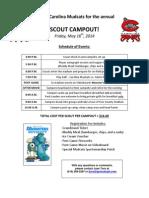 Carolina Mudcats Scout Campout 2014