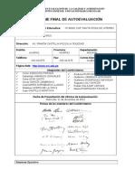 Informe Final de Autoevaluación Para Presentar