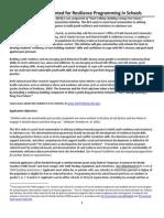 RFA Resilience Programming