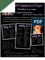 24.7 Prayer 2009 Flyer