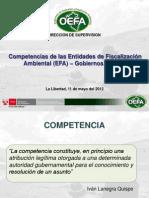 competencias de las entidades de fiscalización ambiental