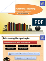 IELTS Grammar Training Apostrophe